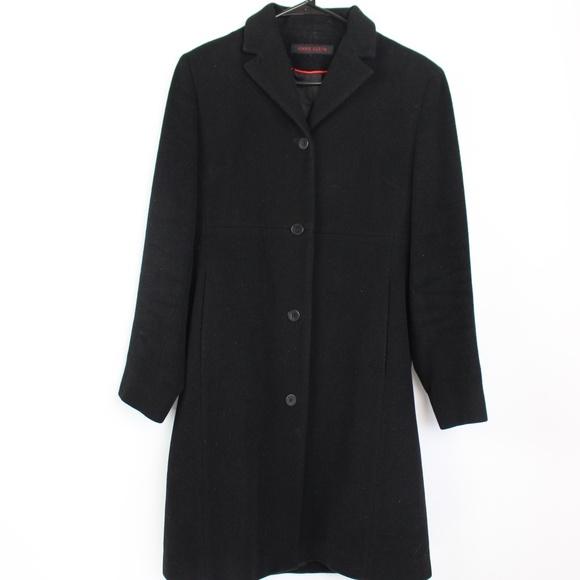 Anne Klein Jackets & Blazers - Anne Klein black wool cashmere over coat midi